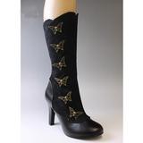 Noir 10,5 cm TESLA-107 bottes pour femmes a talon