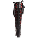 Noir 10 cm CRYPTO-106 plateformes bottes à boucles pour femmes