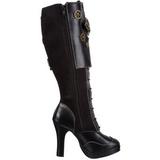 Noir 10 cm CRYPTO-302 plateformes bottes à boucles pour femmes