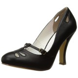 Noir 10 cm SMITTEN-20 Pinup escarpins femmes à talons bas