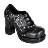 Noir 10 cm VAMPIRE-08 chaussures lolita gothique femmes semelles épaisses