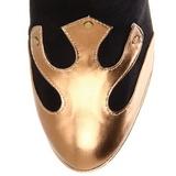 Noir 11,5 cm ARENA-2012 bottes pour femmes a talon