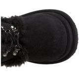 Noir 11,5 cm BEAR-202 bottes lolita gothique semelles épaisses