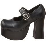 Noir 11,5 cm CHARADE-05 chaussures lolita gothique