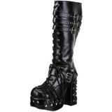 Noir 11,5 cm CHARADE-206 bottes lolita gothique semelles épaisses