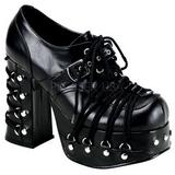 Noir 11,5 cm CHARADE-35 chaussures lolita gothique femmes semelles épaisses