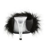 Noir 11,5 cm FLAIR-401F plumes de marabout Mules Chaussures