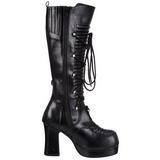 Noir 11,5 cm GOTHIKA-200 bottes lolita gothique semelles épaisses