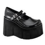 Noir 11,5 cm KERA-08 chaussures lolita gothique talons compensées