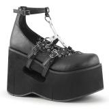 Noir 11,5 cm KERA-09 chaussures lolita gothique talons compensées