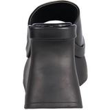 Noir 11,5 cm PACE-01 Plateforme Tongs Gothique Femmes