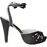 Noir 11,5 cm Pinup retro vintage BETTIE-01 sandales à talons hauts
