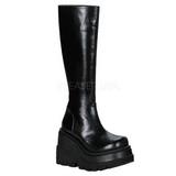 Noir 11,5 cm SHAKER-100 bottes lolita gothique semelles épaisses
