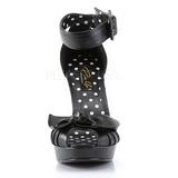 Noir 11,5 cm retro vintage BETTIE-07 Chaussures pour femmes a talon