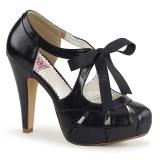 Noir 11,5 cm retro vintage BETTIE-19 Chaussures pour femmes a talon