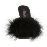 Noir 11 cm Pleaser CARESS-401F plumes de marabout Mules Chaussures