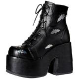 Noir 12,5 cm CAMEL-201 bottines plateforme lolita gothique