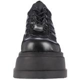 Noir 12,5 cm STOMP-08 chaussures lolita gothique talons compensées