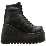 Noir 12 cm STOMP-12 chaussures lolita gothique talons compensées