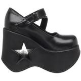 Noir 13,5 cm DYNAMITE-03 chaussures lolita gothique talons compensées