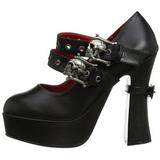 Noir 13 cm DEMON-16 chaussures lolita gothique