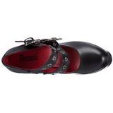 Noir 13 cm DEMON-16 chaussures lolita gothique femmes semelles épaisses