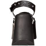 Noir 13 cm Demonia DYNAMITE-02 sandales lolita talons compensées