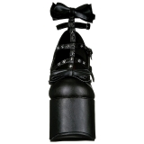 Noir 14 cm DEMONIA TORMENT-600 chaussures plateforme gothique