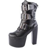 Noir 14 cm TORMENT-703 bottines lolita gothique semelles épaisses