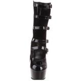 Noir 15,5 cm DELIGHT-1027 bottines a plateforme pour femmes