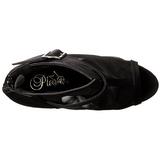 Noir 15,5 cm DELIGHT-600-23 Plateforme Bottines Bout Ouvert