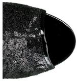 Noir 15 cm DELIGHT-1008SQ bottines a paillettes pour femmes