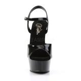 Noir 15 cm DELIGHT-609 talons hauts pleaser plateforme