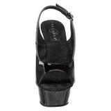 Noir 15 cm DELIGHT-654 Chaussures pour femmes a talon