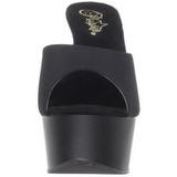 Noir 15 cm Pleaser DELIGHT-601PS Pantoufles Talons Hauts