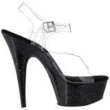 Noir 15 cm Pleaser DELIGHT-608MG chaussures à talons etincelle