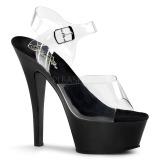 Noir 15 cm Pleaser KISS-208 Plateforme Chaussures Talon Haut