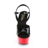 Noir 15 cm Pleaser KISS-209 Rouge Plateforme Talons Hauts