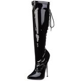 Noir 16 cm DAGGER-2064 bottes pour femmes a talon