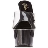 Noir 18 cm ADORE-701-4 Etinceler Plateforme Mules Hautes