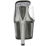 Noir 18 cm ADORE-701G Etinceler Plateforme Mules Hautes