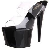 Noir 18 cm ADORE-702 Plateforme Mules Chaussures