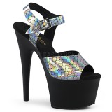 Noir 18 cm ADORE-708N-MS chaussures plateforme et talons glitter