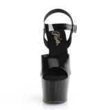 Noir 18 cm ADORE-708N Plateforme Chaussures Talon Haut