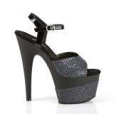 Noir 18 cm ADORE-709-2G etincelle sandales avec plateforme