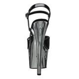 Noir 18 cm ADORE-709 Chrome Plateforme Talons Hauts