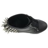 Noir 18 cm FEARLESS-700-28 bottines a plateforme pour femmes