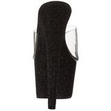 Noir 18 cm Pleaser ADORE-701SDG mules à talon aiguille glitter