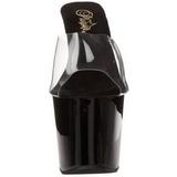 Noir 18 cm Pleaser REVOLVER-701 Mules Talons Aiguilles