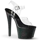 Noir 18 cm Pleaser SKY-308MG chaussures à talons etincelle